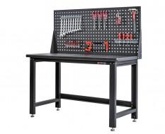 Werkbank für Elektronik mit Lochwand 152 x 65 x 88,5 cm - Montagetisch für Elektronik