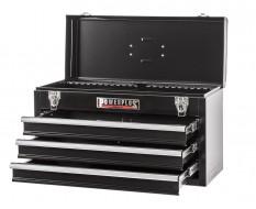 Werkzeugkiste schwarz 3 Schubladen mit Schubladenschloss