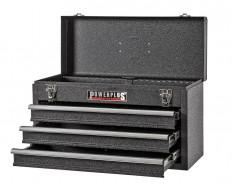 Werkzeugkiste mattschwarz 3 Schubladen mit Schubladenschloss