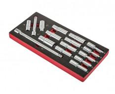 Langer Steckschlüsselsatz ½ Zoll + 2 x Zündkerzensteckschlüssel