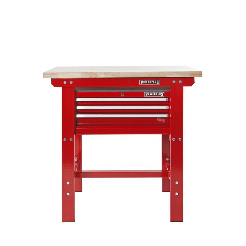 werkbank 100 cm werkzeugkiste rot 3 schubladen. Black Bedroom Furniture Sets. Home Design Ideas