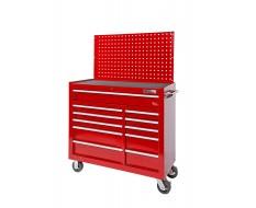 Werkstattwagen 11 Schubladen ( Rot ) + Lochwand