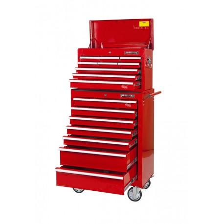 Werkzeugwagen Satz 16 Schubladen. Rot