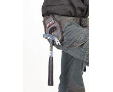 Hammerhalter für Gürtel schwingender Metallbügel