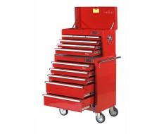 Werkstattwagen Set 11 Schubladen Rot