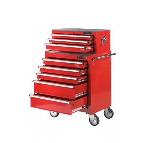 Werkstattwagen Set 8 Schubladen Rot