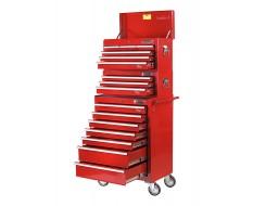 Werkstattwagen Set 16 Schubladen Rot
