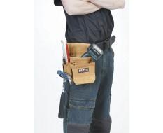 Werkzeugtasche für Gürtel - Leder mit Hammerhalter