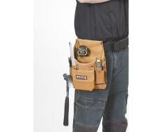Werkzeugtasche für Gürtel - Leder mit 2 Hammerhalter