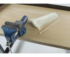 100 Kabelbinder - 7.2 x 350 mm Weiß