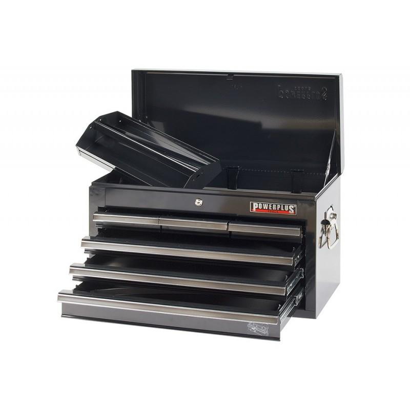 werkzeugkiste 6 schubladen schwarz powerplustools gmbh. Black Bedroom Furniture Sets. Home Design Ideas
