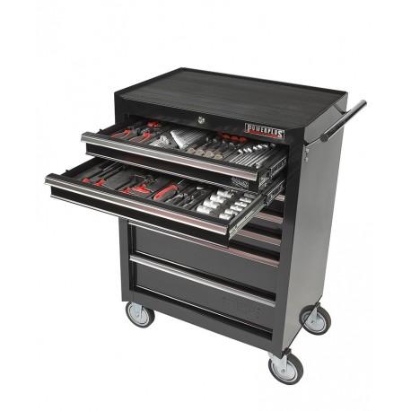 Werkstattwagen 7 Schubladen - davon 2 Schubladen gefüllt - bestückt