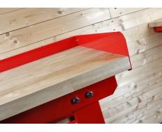 Aufsatzrahmen für Werkbank 200 x 11 cm rot