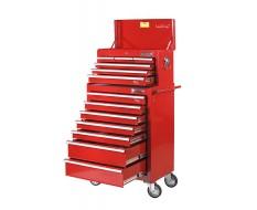 Werkstattwagen-Set Rot mit 13 Schubladen
