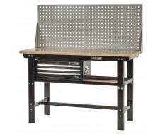 Profi Werkbank 150 cm inkl. Lochwand und Werkzeugkiste 3 Schubladen