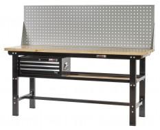 Profi Werkbank 200 cm inkl. Werkzeuglochwand und Werkzeugkiste 3 Schubladen