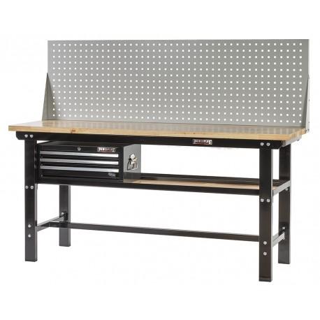 profi werkbank 200 cm inkl werkzeuglochwand und werkzeugkiste 3 schubladen powerplustools gmbh. Black Bedroom Furniture Sets. Home Design Ideas