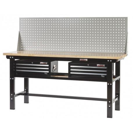 Profi Werkbank 200 cm inkl. 2 x Werkzeugkiste 3 Schubladen und Lochwand