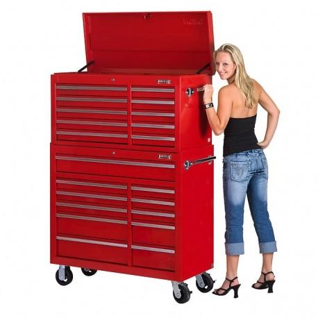 Werkstattwagen Set 21 Schubladen - Rot