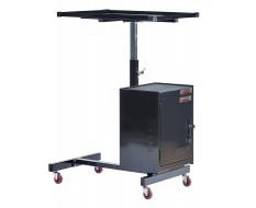Werkstattrollwagen Schwarz mit Höhen verstellbarer Tisch