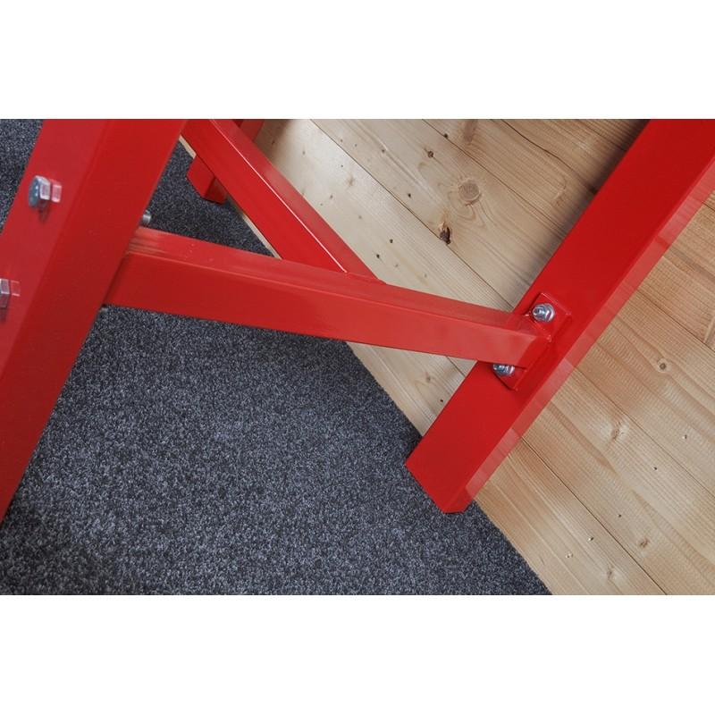 werkbank 200 cm lochwand stahl rot hartholz kap 1000 kg powerplustools gmbh. Black Bedroom Furniture Sets. Home Design Ideas