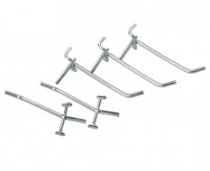 Satz 5 Werkzeughaken für Lochwand von Werkstattschrank 0812 + 0813 (Haken kurz )