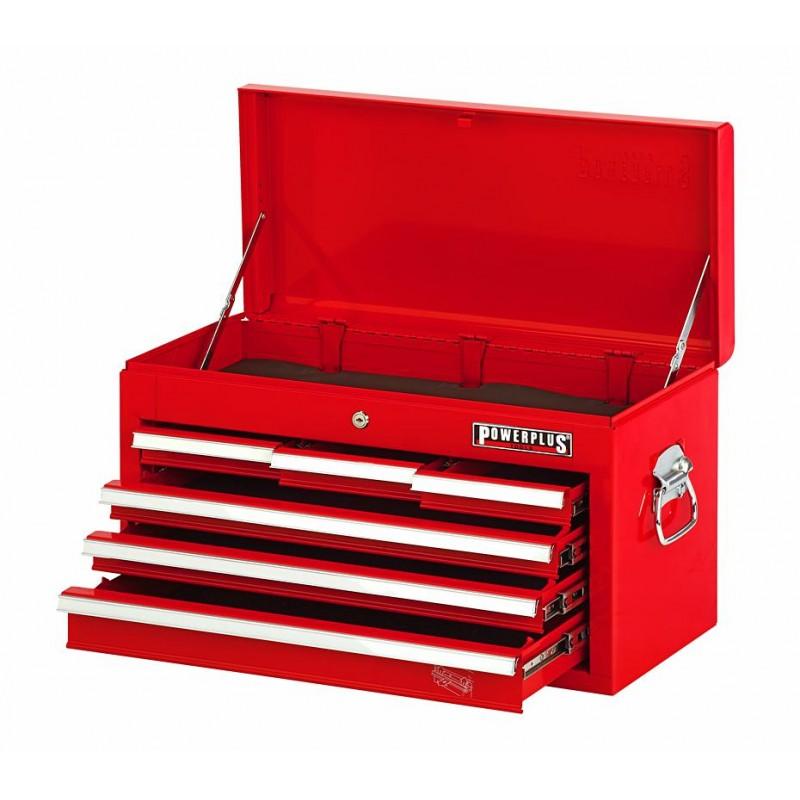 werkzeugkiste rot mit 6 schubladen und einzelarretierung powerplustools gmbh. Black Bedroom Furniture Sets. Home Design Ideas