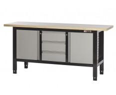 Werkbank 190 x 60 x 90 cm mit 3 Schubladen