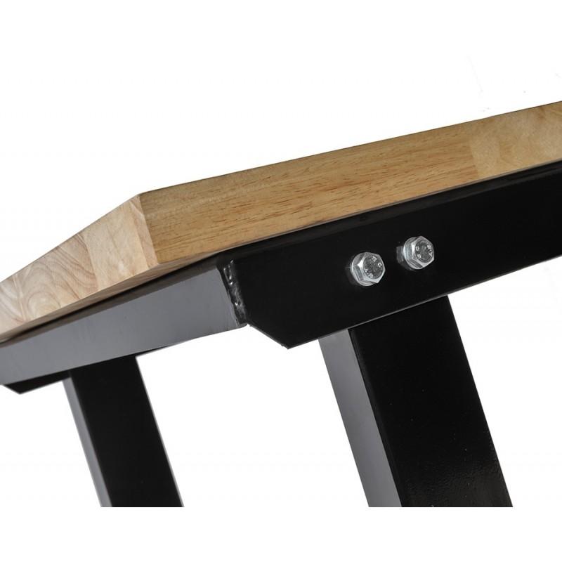 werkbank 150 cm stahl schwarz hartholz werkbank tragkraft 1000 kg 7 cm rand. Black Bedroom Furniture Sets. Home Design Ideas