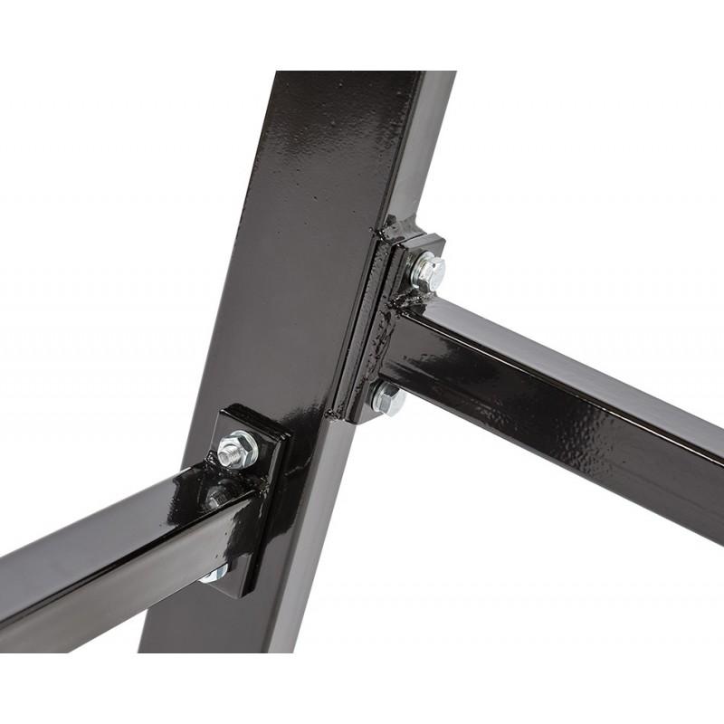 werkbank 150 cm stahl schwarz hartholz werkbank mit lochwand tragkraft 1000 kg. Black Bedroom Furniture Sets. Home Design Ideas