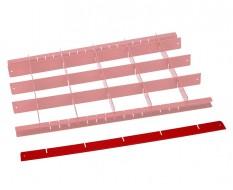 Werkzeug sortieren - Trenner Rot - L 56,5 cm.