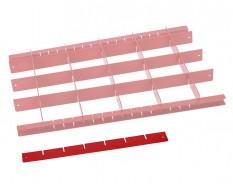 Werkzeug Sortiereinlage - Werkzeug sortieren - Trenner Rot L 37 cm.