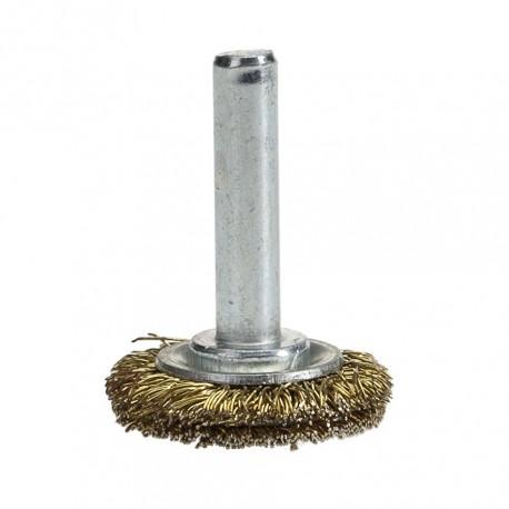 Scheiben-Drahtbürste 25 mm. mit 6 mm. Schaft