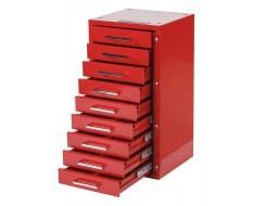 Werzeugschrank 9 Schubladen rot .