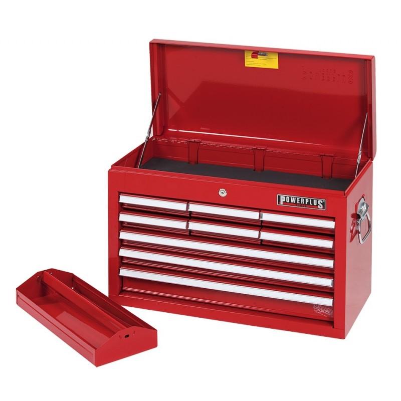 werkzeugkiste 9 schubladen rot mit einzelarretierung powerplustools gmbh. Black Bedroom Furniture Sets. Home Design Ideas
