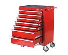 Werkstattwagen Rot mit 7 Schubladen