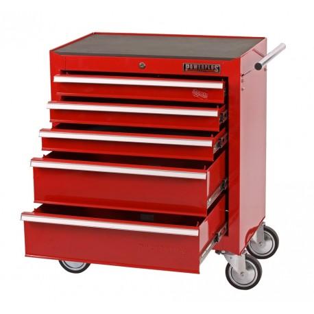 Werkstattwagen Rot mit 5 Schubladen