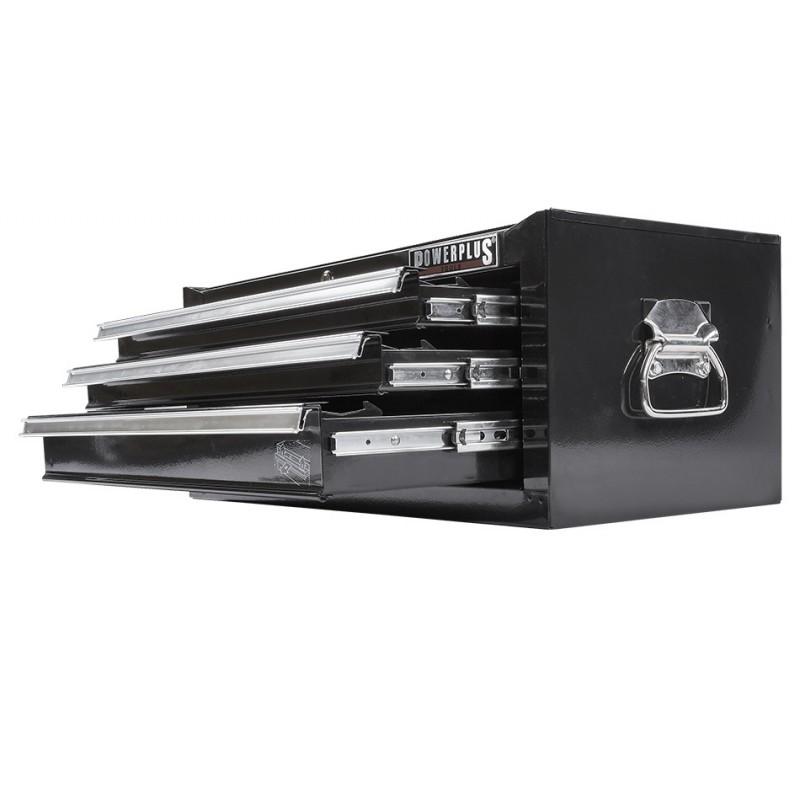 werkzeugkiste 3 schubladen schwarz mit einzelarretierung powerplustools gmbh. Black Bedroom Furniture Sets. Home Design Ideas