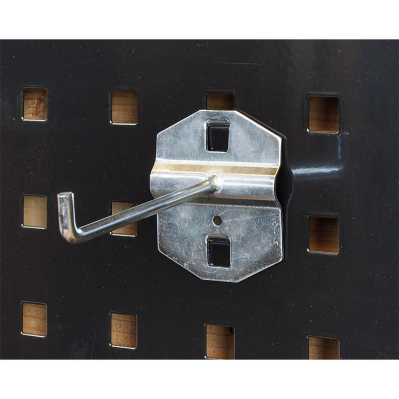 langer haken f r lochwand lochwandhaken 8 cm lochwandhaken werkzeughalter f r lochwand. Black Bedroom Furniture Sets. Home Design Ideas