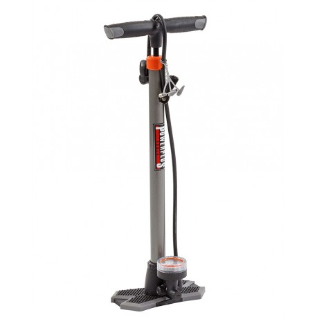Standpumpe Fahhrrad – Metall + Kunststoff + Manometer 6 bar – 84 psi