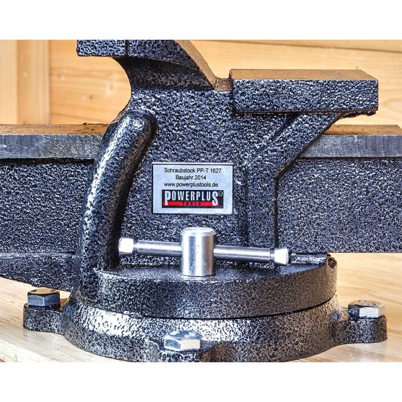 Profi schraubstock 125 mm drehbar drehteller mit for Ohrensessel zum verstellen