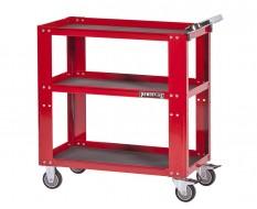 Werkstatt Rollwagen - 3 fächer - Rot 85 x 46 x 91 cm