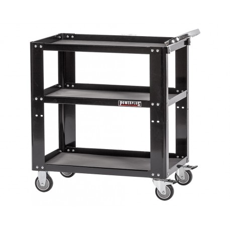 Werkstatt Rollwagen - 3 fächer Schwarz 85 x 46 x 91 cm