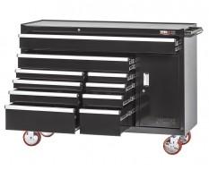 Profi Werkstattwagen 10 Schubladen + Werkzeugschrank Schwarz mit Einzelarretierung