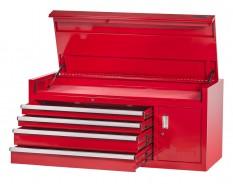 Profi Werkzeugkiste 4 Schubladen + Werkzeugschrank Rot mit Einzelarretierung