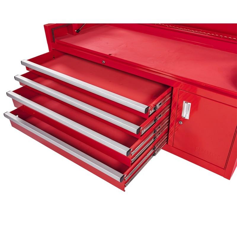 profi werkzeugkiste 4 schubladen werkzeugschrank rot mit einzelarretierung powerplustools gmbh. Black Bedroom Furniture Sets. Home Design Ideas