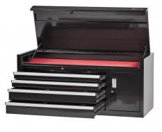 Profi Werkzeugkiste 4 Schubladen + Werkzeugschrank Schwarz mit Einzelarretierung