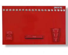 Werkzeugwand rot 100 x 61 cm bestückt mit Haken und Werkzeughalter