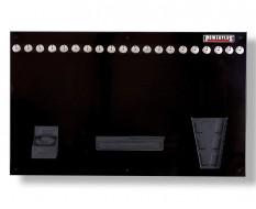 Werkzeugwand schwarz 100 x 61 cm bestückt mit Haken und Werkzeughalter