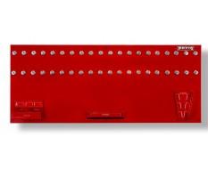 Werkzeugwand rot 150 x 61 cm bestückt mit Haken und Werkzeughalter